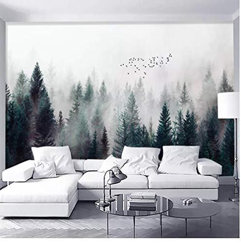Wandbild Moderne Nebelwald Fototapete 3D Wolken Flyer Wandbilder Wohnzimmer Schlafzimmer Nordischen Stil Wohnkultur Tapeten Tapete Wandbild 200x140cm