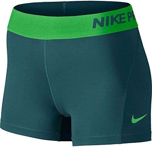 "NIKE NP CL 3"" Short Pantalón Corto, Mujer, Turquesa (Midnight Turq/Lt Green Spark), S"
