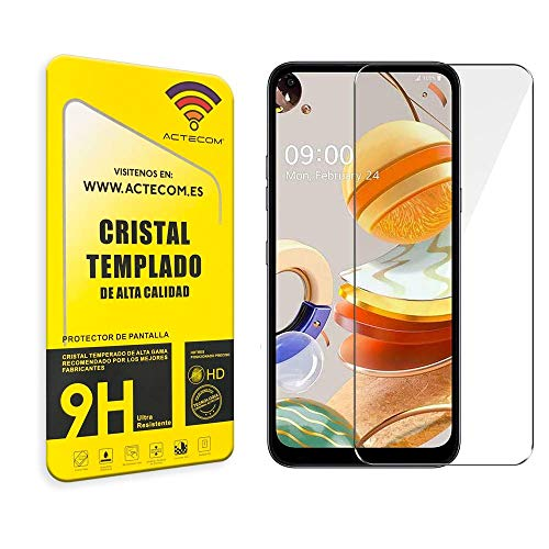 actecom® Cristal Templado Compatible con LG K61 Protector Pantalla para LG K61...