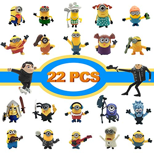 LEMBO DIRECT Action Figures, Anime Figures, 22 PCS Film Characters Action Figures Pack - Cartoon Movie Mini PVC Figure Toy Playset for Decoration, Gift, Collection, Kids