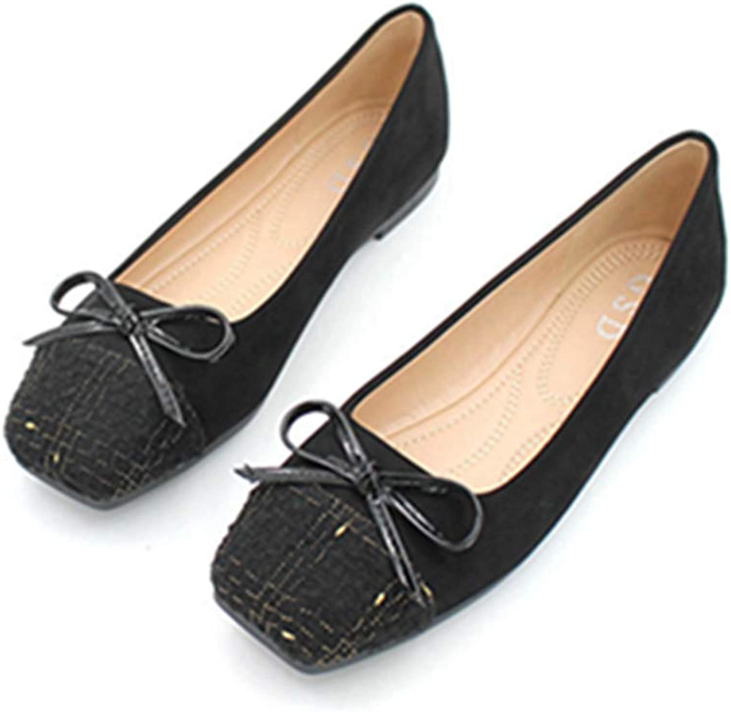 Kyle Walsh Pa Women Ballet Flats shoes Bowknot Slip-on Ladies Casual Soft Working Driving Moccasins
