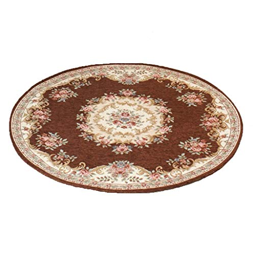 Find Bargain CarPet Living Room Chair Round pad Bedroom Round (Color : Brown, Size : 100100cm)