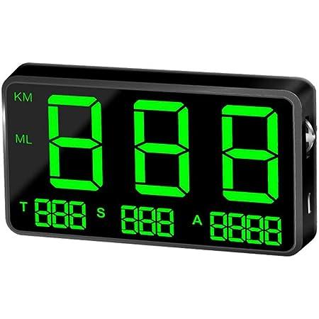 Saibangzi C80 Gps Tachometer Geschwindigkeitsmesser Auto Hud Head Up Display Km H Mph Geschwindigkeit Warnung Usb Ladegerät Verfügbar Für Alle Fahrzeuge Gewerbe Industrie Wissenschaft