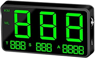 Everygo Digital Car Speed Display C80 Digital Car GPS Speedometer Speed Display KM/h MPH Hud Head Up Display for Bike Motorcycle Car