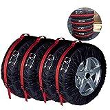 YMYP08 Las Cuatro Estaciones del neumático Cubierta de protección Universal, 210D Resistente al Desgaste Cubierta del neumático a Prueba de Polvo, Almacenamiento, 4 Piezas