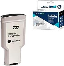LCL Compatible Cartucho de Tinta 727 XL C1Q12A B3P22A 300ML High Yield (1Negro Mate) Reemplazo para HP DesignJet T1500 T2500 T2530ps T920 T930 T930 T1530 Postscript Printer