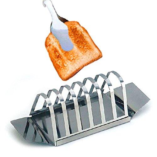 Garcia de Pou Toast Rack 24,3x 9,7x 11cm, Edelstahl, Silber, 30x 30x 30cm