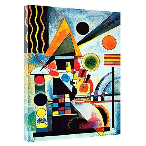 XingChen Drucke für Wände 60x80cm ohne Rahmen Balancement Swinging von Kandinsky Gemälde Leinwand Wandkunst Wohnzimmer Home Decor Bild