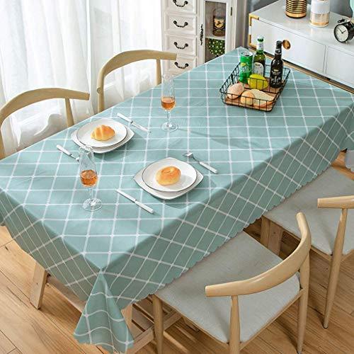 WYZQ Nordic Floral Tischdecke, Tischdecke, PVC Tischmatte, Esszimmerdekoration, Ferienhaus, Weihnachtsfeier Picknick (Größe: 135 * 200)