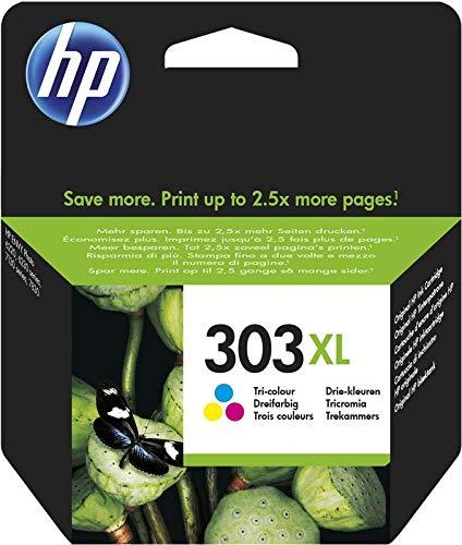 HP 303 XL Tricromia T6N03AE Cartuccia Originale per Stampanti HP a Getto d Inchiostro, Compatibile con Stampanti HP Tango, HP Tango X, HP ENVY 6220 e 6230, HP ENVY 7130 e 7830