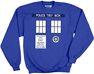 Ripple Junction Doctor Who Tardis Trompe Adult Sweatshirt