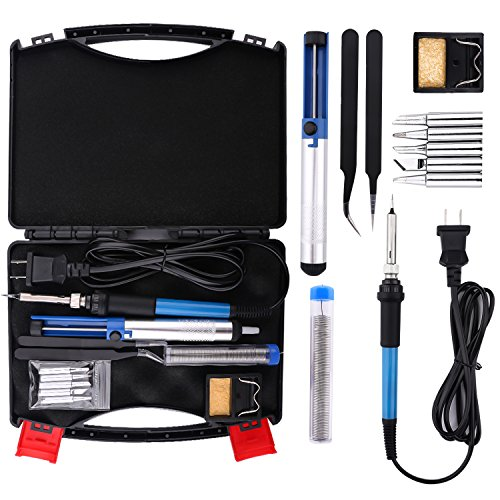 Why Choose Housolution Electric Soldering Iron Kit - 12-in-1 60W 110V Temperature Controller Welding...