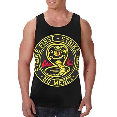 Tengyuntong Camisetas y Tops Hombre Polos y Camisas, Cobra Kai Karate Camiseta sin Mangas para Hombre Camiseta Deportiva sin Mangas Gimnasio Chaleco Camisetas
