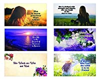 Bible Verses About Virtuous Woman Postcards (60-Pack) - Variety Encouraging Postcards [並行輸入品]