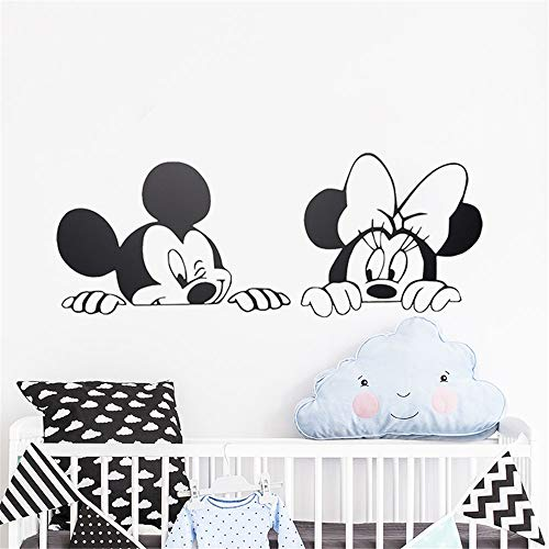 pegatinas de pared Dormitorio infantil de Mickey Minnie Mouse Wall Nur