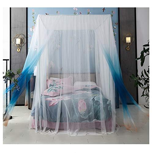 YANGM Muggennet, vierdeurs muggennet/bed luifel, voorkomen insecten zorgen luchtstroom Pop up tent gordijnen, universele vierkante muggennetbed