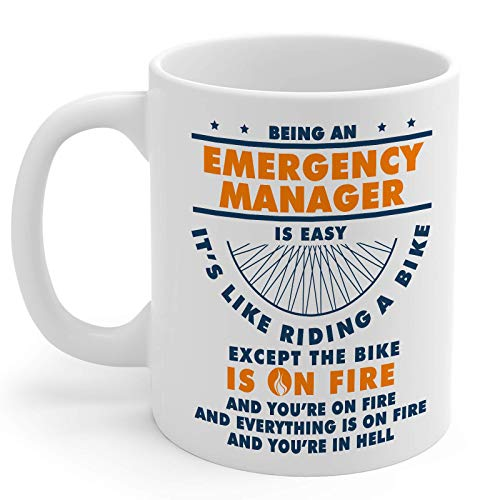 Emergency Manager Gifts 11oz White Ceramic Coffee Cup - Men and Women Emergency Manager Mug