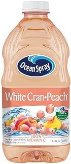 Ocean Spray Juice Drink, White Cran-Peach, 64 Ounce Bottle