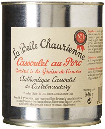 La Belle Chaurienne Cassoulet au Porc Cuisiné à La graisse de Canard, 3 x 840g