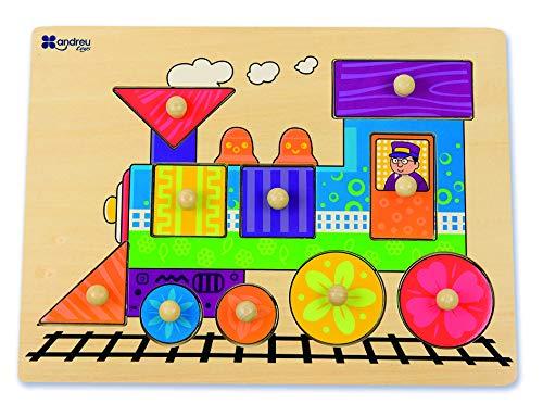 Andreu Toys - Encaje Tren de Madera, 10 Piezas (16451.0)