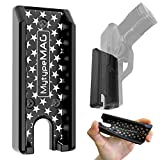 Full Rubber Cover Gun Magnet, Accessories for Pistol Load Fast& Quick Draw, No Screw&Drill&Trace Installation in Vehicle,Truck,Car,Home Concealed Handgun Magnetic Holder with Powerful Adhesive Tape