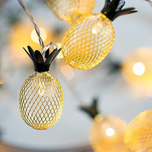 LED Lichterkette Ananas- Lichterketten für Zimmer, 6m 40er Micro LED Lichterkette Draht Innen für Party Weihnachten Halloween Hochzeit Deko (Warmweiß),Plugin