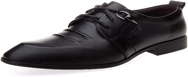 KMJBS Herrenschuhe Echtes Leder Geschäfts-und Freizeit-Männer Schuhe Schuhe von Männern Mittleren Alters Schwarz 38  | Nicht so teuer