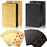 ruiqiu 2 Decks Waterproof Poker Cards, Plastic Poker Diamond Playing Cards Magic Poker