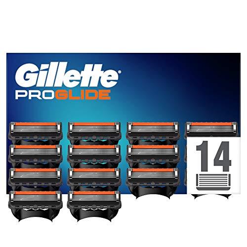 Gillette Fusion 5 ProGlide Cuchillas de Afeitar con Tecnología FlexBall, Paquete de 14 Cuchillas de Recambio (El Diseño Exterior del Paquete Puede Variar)