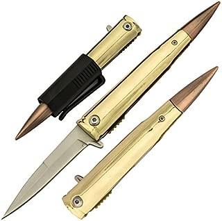 Tiger USA .50 Cal Trigger ActionBullet Pocket Knife with Removable Pocket Clip