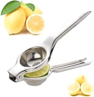 عصارة ليمون يدوية صغيرة من ستانلس ستيل عالٍ الجودة - أداة لعصر الليمون والفواكه والأحماض، أداة يدوية للمطبخ يُمكن تقديمها ...