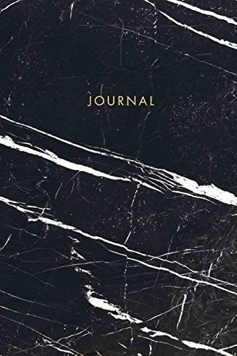 Journal: Elegant Black and White Marble with Gold Lettering - Marble & Gold Journal - 120 College-ruled Pages - 6 x 9 Size