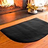 hi!SCI Fire Retardant Fireplace Mat, Hearth Fireplace Area Rug Non Slip Mat, Protects Floors from Sparks Embers Fireproof Mat Fireplace Rug (19.7x39.4Inch)