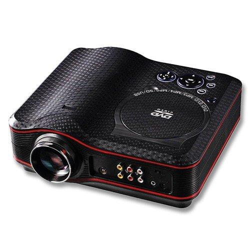 MediaLy XS100 Mini LED Beamer DVD Heimkino Projektor - Mediaplayer mit Spielekonsole + integriertem TV-Tuner + USB-Anschluss und SD-Kartenslot + Spielekonsole mit 300 Spiele-CD - schwarz