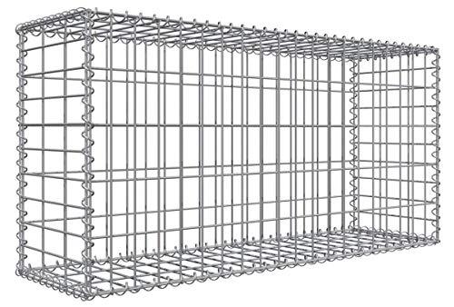 Niederberg Metall Gabion en pierre 100x50x30 MW 5x10 Cage métallique Déco Jardin