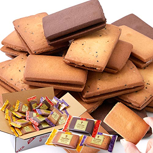 天然生活 クリームサンドクッキー3種36個(各味12枚) 国内製造 焼菓子 お徳用 スイーツ クッキー 洋菓子 おやつ 個包装