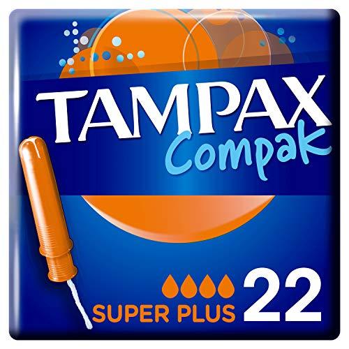 Tampax Compak Super Plus Tampones Con Aplicador 22 Unidades