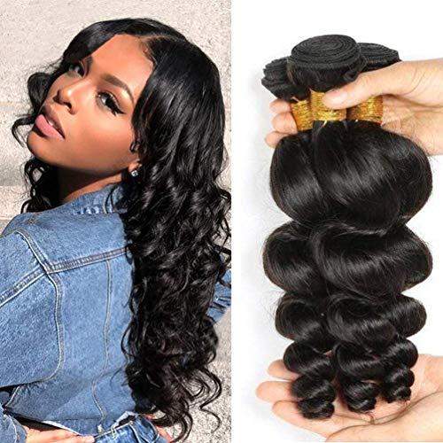 Musi Brazilian Hair Bundles 9A Brazilian Loose Wave Bundles 100% Human Hair...