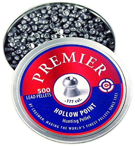 Crosman LHP77 .177-Caliber Premier Hollow Point Pellets (500-Count)