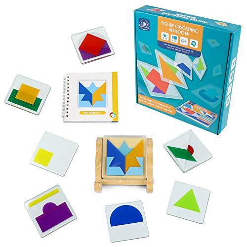 Juguetes Puzzle para Niños Rompecabezas con 18 Piezas Bloques Construccio & Manual de Instrucciones Juegos Educativos Regalos para Niños Niñas 6 7 8 9 Años