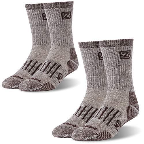 ZEAL WOOD - Radsport-Socken für Damen in 2 Paare braun-crew, Größe M