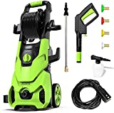 Paxcess V3.2 Electric Pressure Washer, 3500PSI Max 1.85 GPM Power Washer with Hose Reel, 4 Quick Connect Nozzles, Soap Tank, IPX5 Car Wash Machine for Home/Car/Driveway/Patio Clean