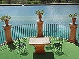 Rasenteppich Meterware COMFORT - Grün, 1,33m x 1,00m, Wasserdurchlässiger Vlies-Rasen mit Noppen, Pool-Unterlage Poolmatte, Outdoor Teppich, Bodenbelag für Balkon, Terrasse & Aussenbereiche - 5