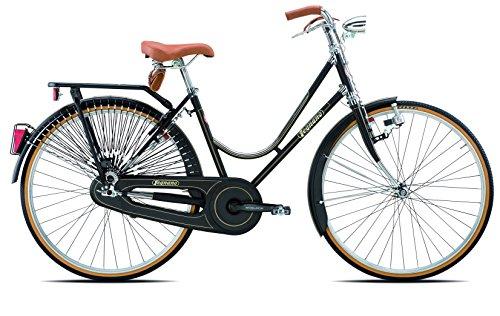 Legnano Ciclo 101 Urban, Bicicletta Vintage Donna, Nero, 44