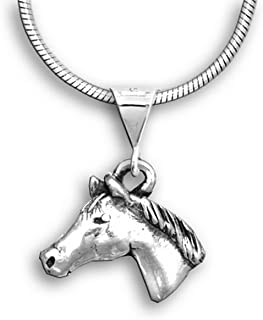 The Magic Zoo Sterling Silver Quarter Horse Small Pendant