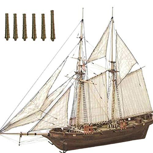 Funmix Modelos de Barcos de Madera,Kit de Barco de Madera de Bricolaje,Modelos de Barco de Madera DIY maqueta de Vela de Madera clásicos,Modelo a Escala,para niños Juguetes,decoración