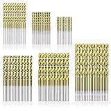 BANANAJOY Perforar 60 PCS 1.0mm-3.5mm HSS Multi Fresa Espiral Broca Conjunto de Titanio bits de Metal Accesorios Herramienta de perforación