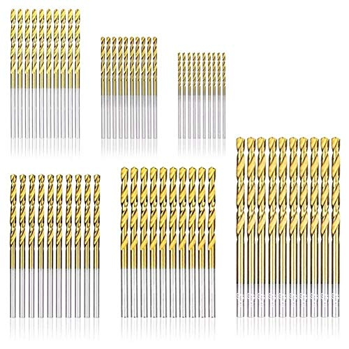 LKK-KK Drill 60 PCS 1.0mm-3.5mm HSS Multi Drill Twist Drill Bit Set Titanium Bits Metal Tools Drill Accessories