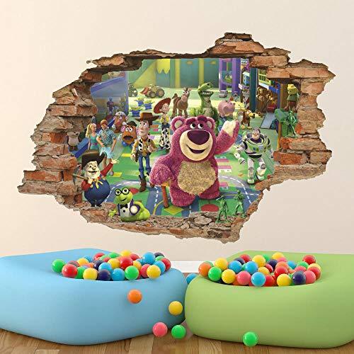 Pegatinas de pared Dibujos animados anime 3D etiqueta de la pared, etiqueta de la pared, papel tapiz extraíble mural cartel papel tapiz- 50×70cm