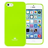 GOOSPERY Pearl Jelly for Apple iPhone SE Case iPhone 5S Case iPhone 5 Case with Screen Protector Slim Thin Rubber Case (Lime) IP5-JEL/SP-LIM